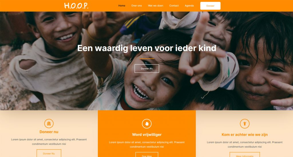 website thema voor stichting en nonprofit