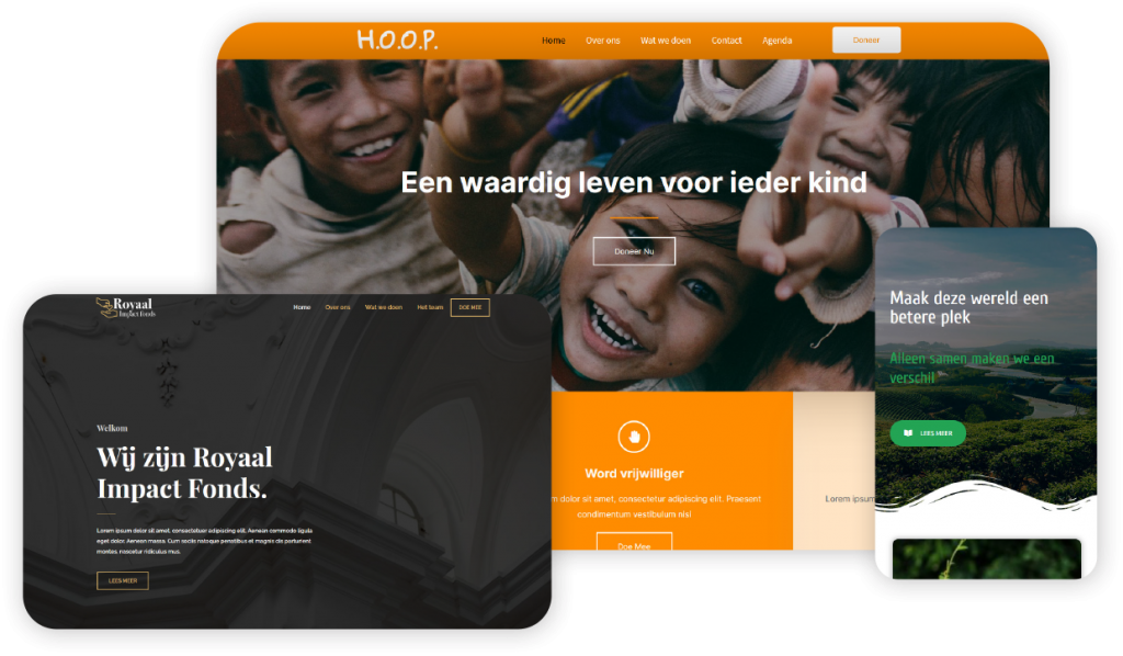Website voor stichtingen